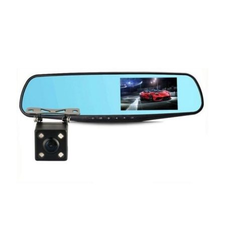 iBello Dashcam en achteruitrijcamera in spiegel