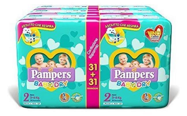 Dagaanbieding - Pampers Baby-Dry Luiers - Maat 2 (3-6 KG) - 186 stuks dagelijkse koopjes