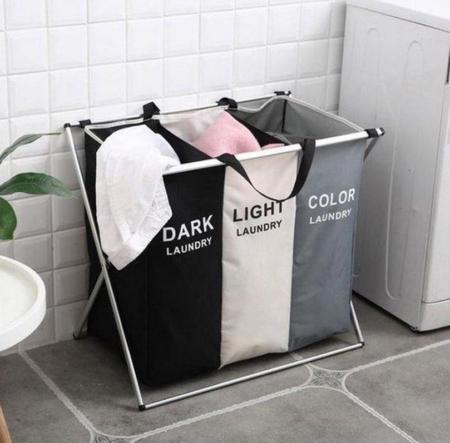 3 vaks wasmand badkamer