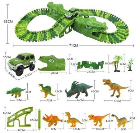 iBello dinosaurus racebaan afmetingen