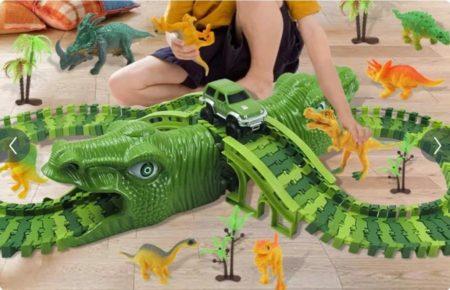 iBello dinosaurus racebaan jongentje