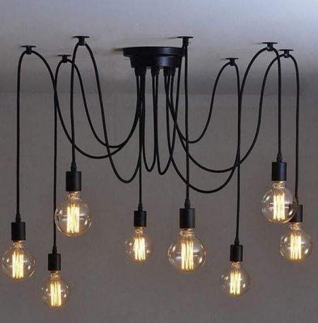 iBella Living plafondlamp Deluxe lampen aan