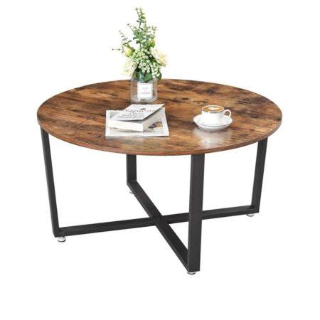 iBella Living industriele salontafel rond